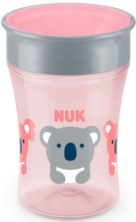 Nuk Magic Cup bočica s poklopcem, 230ml, roza