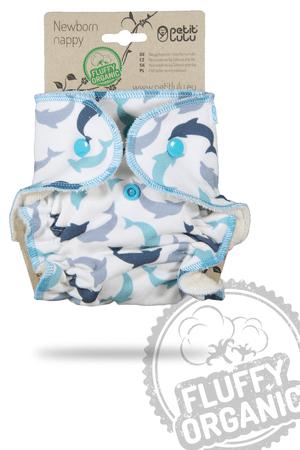 Petit Lulu novorodenecká plienka Delfínky