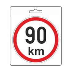 Compass Samolepka omezená rychlost 90km/h (110 mm)