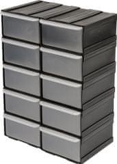 Vorel Skříňka se zásobníky, 10 zásobníků, 225x155x100mm