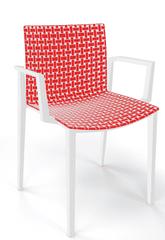 emagra Jídelní plastová zahradní židle CLIPPER s područkami - bílá