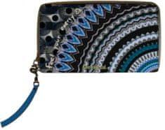 Desigual portfel damski Mone Rep Blue Friend Mini Zip wielokolorowy