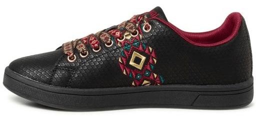 Desigual dámske tenisky Shoes Cosmic Navajo 36 čierna