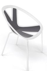 Emagra Jídelní plastová židle EXTREME - bílá