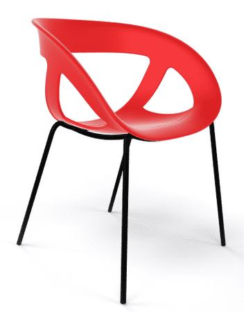 Emagra Jídelní plastová židle MOEMA - červená