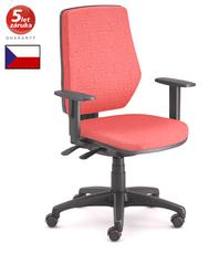 Emagra Kancelářská židle LEX 229/B - černý plast - červená