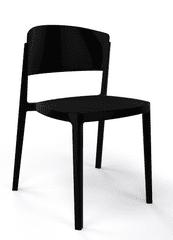 Emagra Plastová jídelní nebo zahradní židle ABUELA
