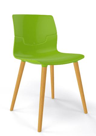 Emagra Jídelní plastová židle SLOT - zelená