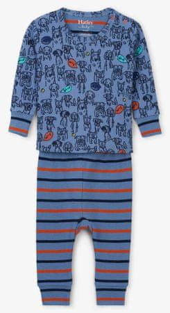 Hatley fiú pizsama a kutyakölykökkel 62 - 68 kék