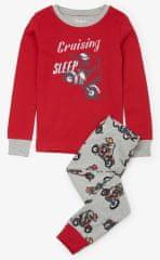 Hatley chlapčenské pyžamo s medveďom na motorke