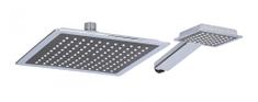 TimeLife Sprchová hlavice 2 součásti 22 x 22 cm + 10 x 9 cm