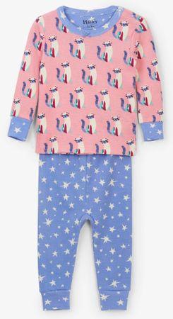 Hatley lány pizsama kiscicás 62 - 68 rózsaszín/kék