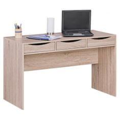 Bruxxi Psací stůl se zásuvkami Samo, 120 cm, Sonoma dub