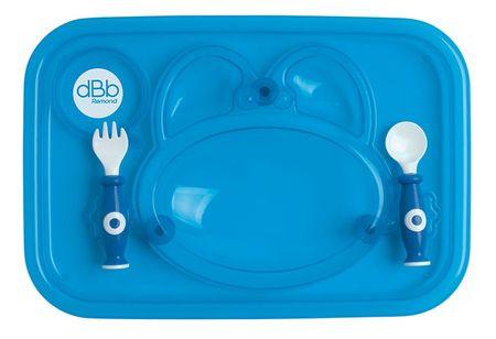 DBB Remond Étkező tálca kanállal és villával, kék