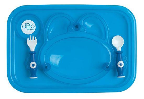 DBB Remond Jedálenská tácka s lyžicou a vidličkou modrá