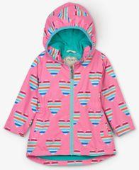 Hatley dívčí nepromokavý kabátek se srdíčky