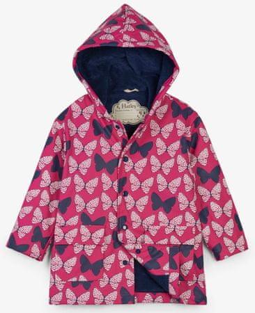 Hatley színváltós vízálló kabát lányoknak 92 piros