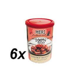FALCO karma dla kotów MERI deluxe kawałki mięsa wołowego, 6 x 400 g