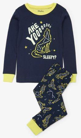 Hatley fiú pizsama farkasos csillagképpel 92 sötétkék