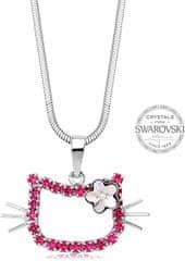 Levien Dievčenské náhrdelník Kočička s kytičkou Rose