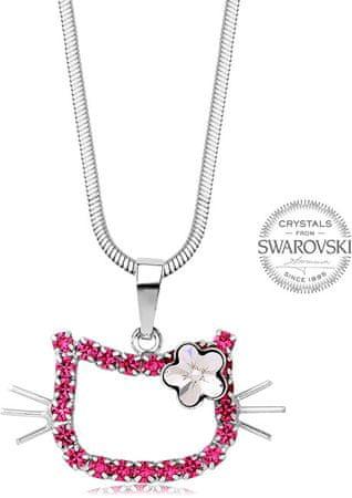 Levien Rose nyaklánc lányoknak cica és virág medállal
