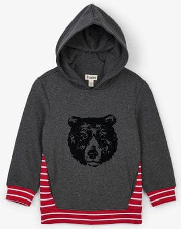 Hatley fiú melegítőfelső grizzly medvével 98 fekete