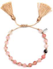 CO88 Náramok z ružového jadeitu so strapcami 865-180-080034-0000