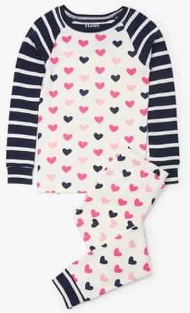 Hatley dekliška pižama s srčki, večbarvna, 98