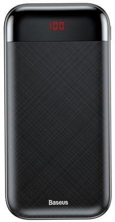 BASEUS Mini Cu postaja za napajanje s 20.000 mAh zaslonom PPALL-CKU01, crna