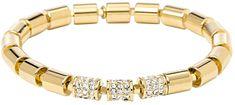 Fossil Złoty, elastyczny bransoletka JA6545710