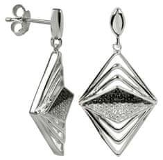 Silver Cat Ezüst fülbevaló kristályokkal SC051 ezüst 925/1000