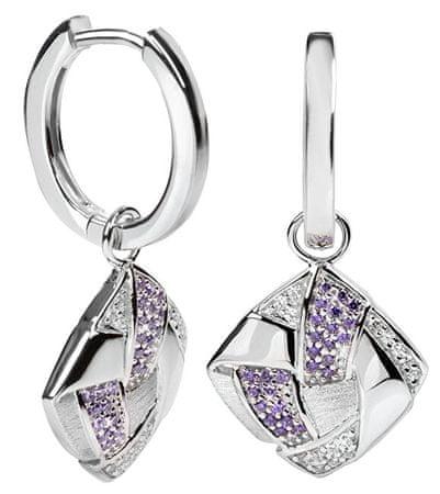 Silver Cat Ezüst fülbevaló SC060 kristályokkal ezüst 925/1000