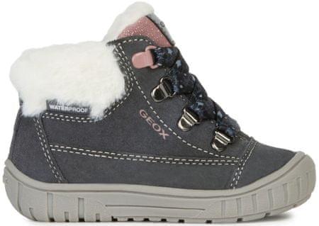 Geox dievčenské zimné topánky Omar 22 sivá