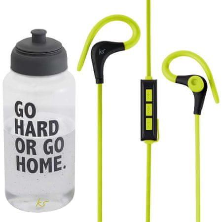 Kit Race Bluetooth KSRACBBK slušalka s športno flaško 1L