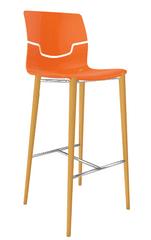 Emagra Barová židle SLOT na dřevěných nohách