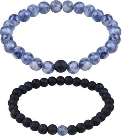 Troli Partner karkötők ónixból és kék jaspis kőből
