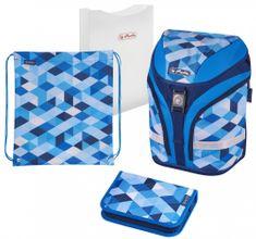 Herlitz plecak szkolny motion Niebieskie klocki - wyposażony