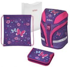 Herlitz dekliški šolski nahrbtnik z motivom metuljev, večbarven