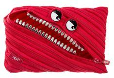 Zipit duży piórnik/etui Grillz Monster Red