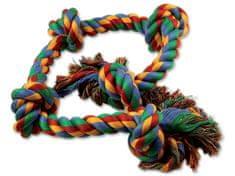 Dog Fantasy Uzol bavlnený farebný 5 knôtov 95 cm