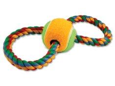 Dog Fantasy Preťahovadlo osmička farebné + tenisák 25 cm