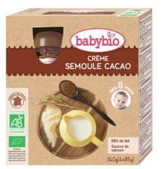 Babybio Krém, kakao, krupička 4x85 g