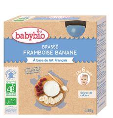 Babybio Mléčný dezert malina, banán 4x85 g