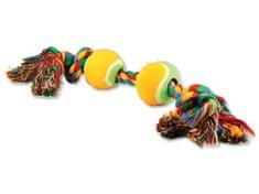 Dog Fantasy Hračka farebná 2 knôty + 2 tenisáky 35 cm