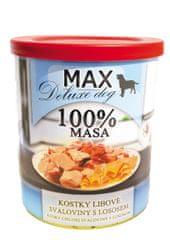 FALCO karma dla psów MAX deluxe kawałki chudego mięsa z łososiem, 800 g