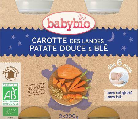 Babybio Mrkev, sladké brambory a pšenice 2x200 g
