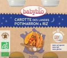 Babybio Mrkev a dýně s rýží 2x200 g