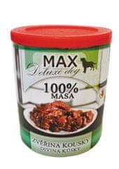 MAX Deluxe zvěřina kousky 800g