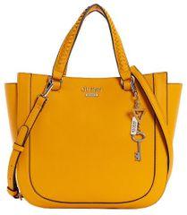 Guess Dámská kabelka Welyn Large Logo Satchel Yellow