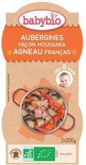 Babybio Baklažán na spôsob Musaka s jahňacím mäsom 2 x 200 g